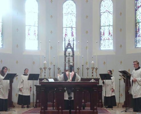 """CORO DI CAPPELLA"" St. Louis King of France Catholic Church Austin, Texas, Stati Uniti d'America"